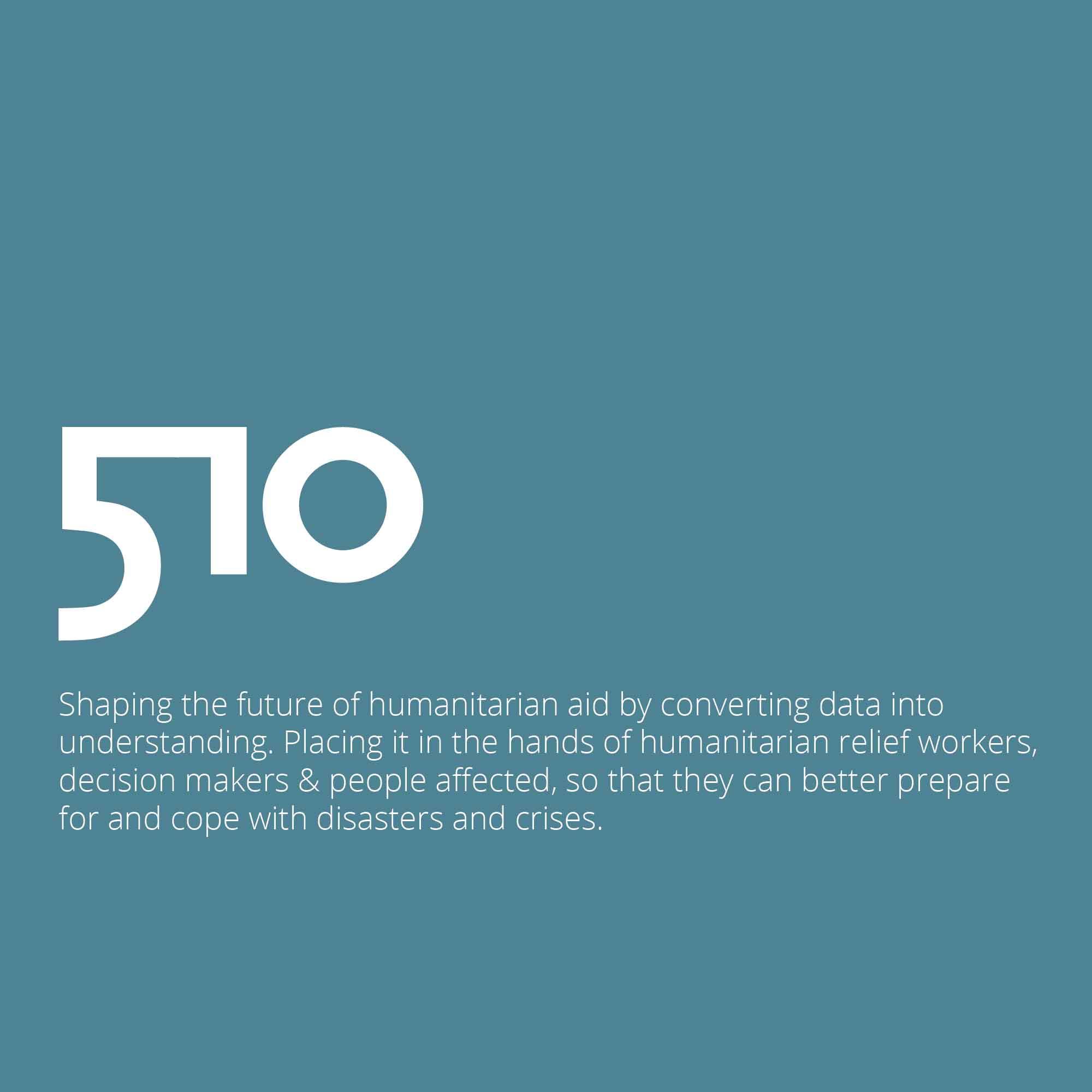 510 global personalised humanitarian aid through data
